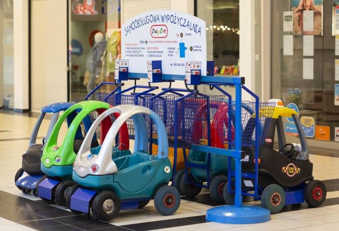 Wózki-samochodziki dla dzieci