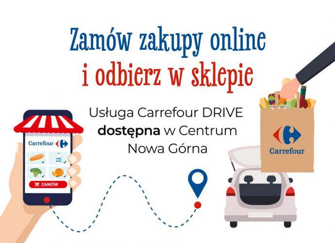 Odbierz swoje zakupy z Carrefour Drive!